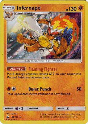 Infernape 59/131 - Sun & Moon Forbidden Light