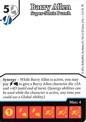DC Comics Dice Masters: Green Arrow and The Flash Barry Allen Promo Card