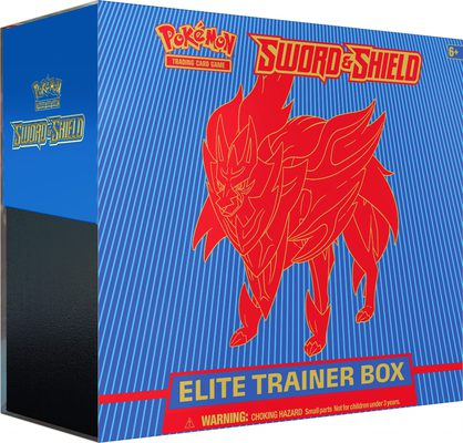 Pokemon SWSH1: Sword & Shield Elite Trainer Box: Zamazenta