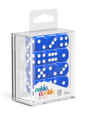 Oakie Doakie Dice D6 12x16mm Solid Blue