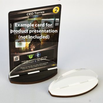 Blackfire Card Stands, Black & White (2pcs)