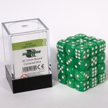Blackfire Dice Cube, 36x 12mm D6, Marbled Light Green
