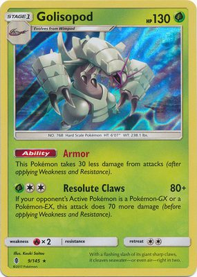 Golisopod 9/145 - Sun & Moon Guardians Rising