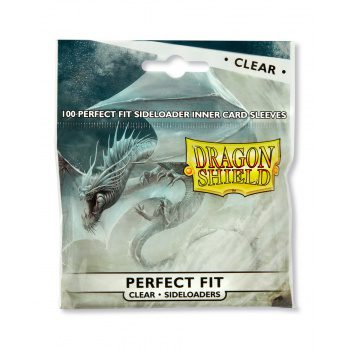 Dragon Shield Sleeves Perfect Fit Sideloading Clear (100ct, same as Perfect Size)