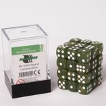 Blackfire Dice Cube, 36x 12mm D6, Marbled Pearlized Green