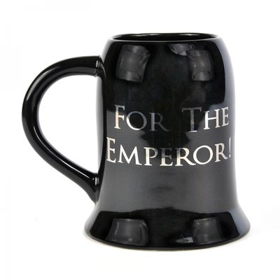 Warhammer 40,000 Glass Tankard: For the Emperor