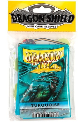 Dragon Shield Small Sleeves, Turquoise (50pcs)