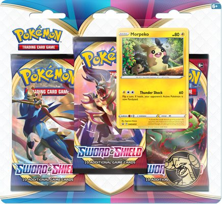 Pokemon SS1: Sword & Shield 3-pack Blister Morpeko (PREORDER)