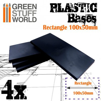GSW Plastic Rectangle Bases 100x50mm