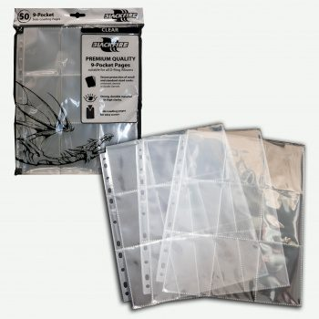 Blackfire 9-Pocket Pages - Clear - Top Loading (50 pcs)