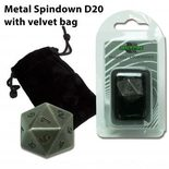 Blackfire Antique Silver D20 with velvet bag