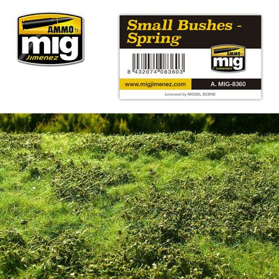 AMMO Vegetation Mat: Small Bushes (Spring) 230x130mm