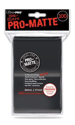 Ultra Pro Sleeves Matte Black (100pcs)