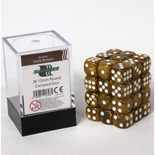 Blackfire Dice Cube, 36x 12mm D6, Marbled Dark Brown