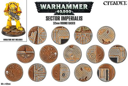 Warhammer 40,000: Sector Imperialis 32mm Round Bases