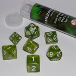 Blackfire Dice Set (7x 16mm Dice, Emerald Green)