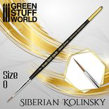 GSW Gold Series Siberian Kolinsky Brush: Size 0