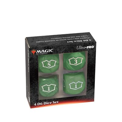 Ultra Pro MTG Deluxe Loyalty Dice Green (4pcs)