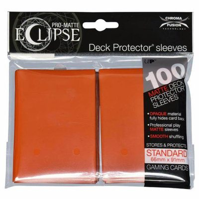 Ultra Pro Sleeves Eclipse Pumpkin Orange (100pcs)
