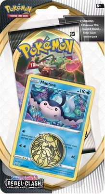 Pokemon SS2: Rebel Clash 1-Pack Checklane Blister Mantine (PREORDER)