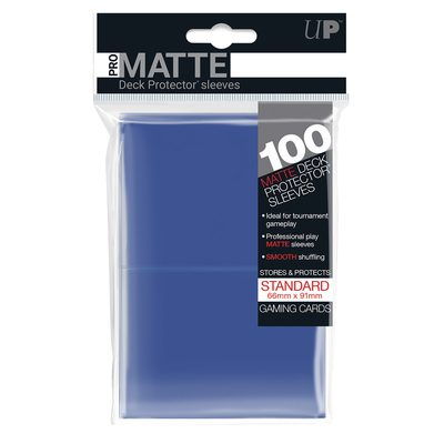 Ultra Pro Pro-Matte Deck Protector Standard Sleeves, Blue (100ct)