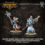 Cygnar Artificer General Nemo, Epic Warcaster and Storm Chaser Adept Caitlin Finch