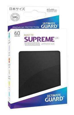 Ultimate Guard Japanese Size Supreme UX Sleeves Black (60pcs)