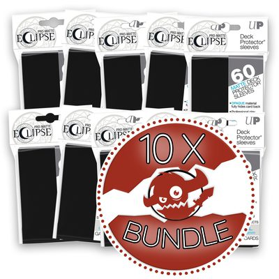 Ultra Pro Japanese Size Sleeves Eclipse, Black Bundle (10 Packs, 60 Sleeves Per Pack)