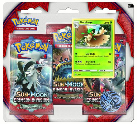 Pokemon SM4: Sun & Moon Crimson Invasion 3-pack Blister Decidueye