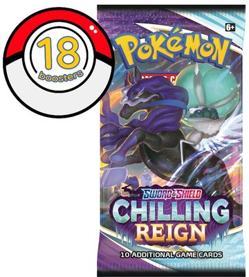 Pokemon SWSH6: Chilling Reign 18 Boosters Bundle (PREORDER)