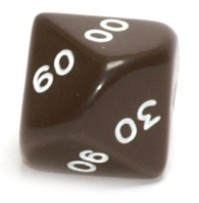 Dice D10 (00-90, iso) (Varying colors)