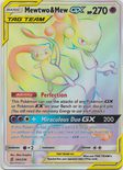 Mewtwo & Mew GX Hyper Rare 242/236 - Sun & Moon Unified Minds