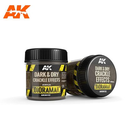 AK Interactive Crackle Effects: Dark and Dry 100ml