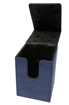 Ultra Pro Alcove Flip Deck Box Suede Collection, Sapphire