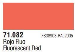 Vallejo Model Air: Fluorescent Red 71.082