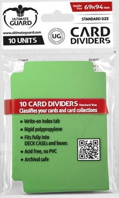 Ultimate Guard Card Dividers -  Green (10pcs)
