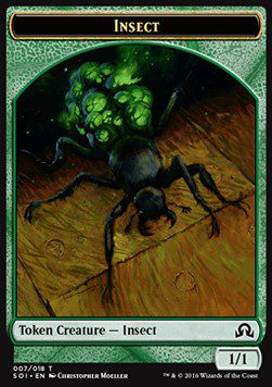Insect TOKEN 1/1 - Shadows over Innistrad
