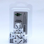Blackfire Dice Set (15xD6 16mm, Opaque White)