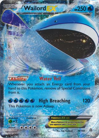 Wailord ex 38 160 x y primal clash pok mon poromagia - Pokemon x wailord ...