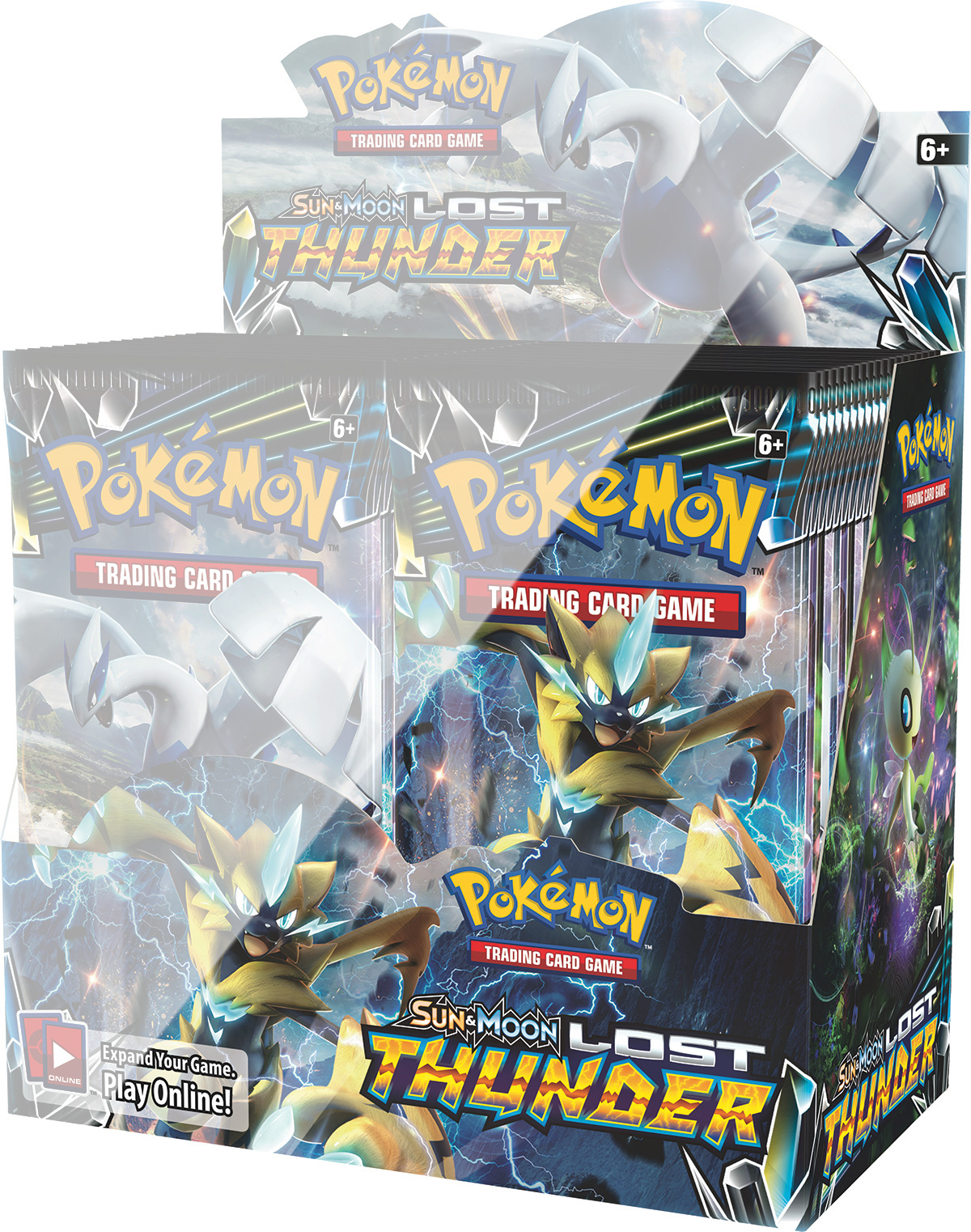 Pokemon SM8: Sun & Moon Lost Thunder Booster Half Box Display ...