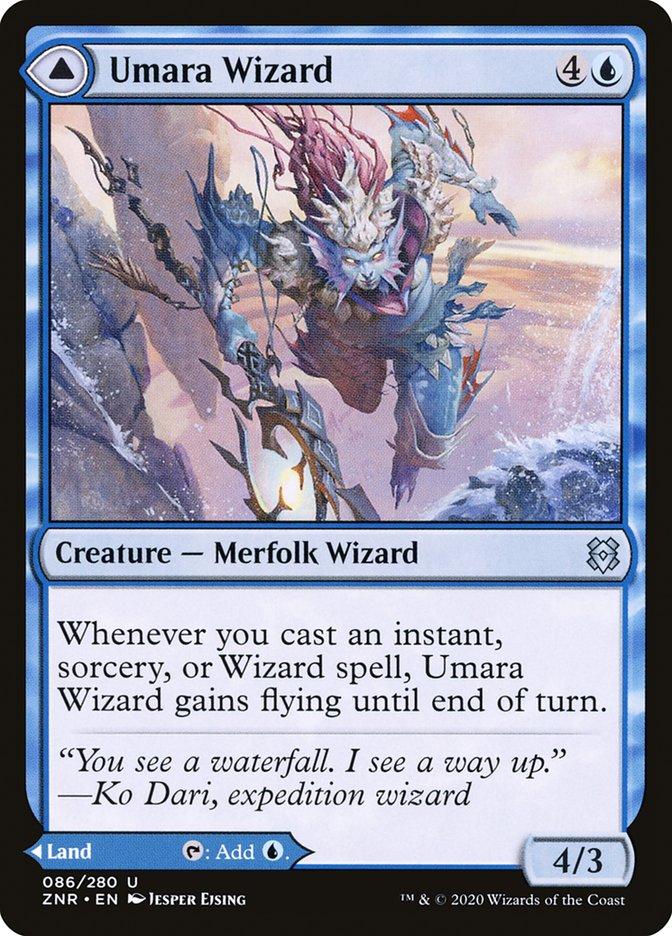 x4 Umara Wizard //// Umara Skyfalls 086//280 uncommon zendikar rising