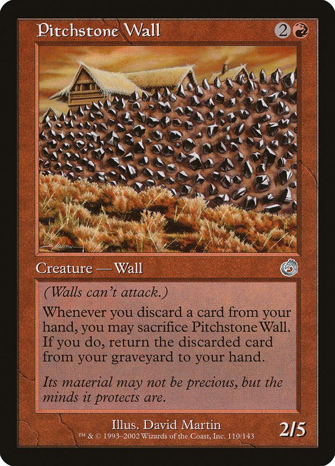 Pitchstone Wall *PLAYSET* Magic MtG x4 Torment SP